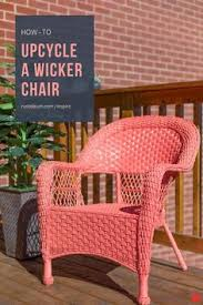 Can You Paint Wicker Chairs 30 Thursday A Spray Painted Wicker Chair Spray Paint Wicker