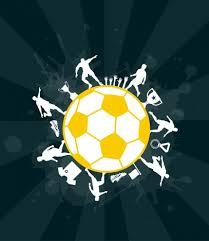 soccer ball background dark sketch vectors stock in format for
