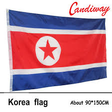 Big Red Flag 90x150 Cm Demokratischen Volksrepublik Korea Flagge Polyester