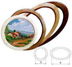 acquisto cornici on line cornici tonde e ovale in legno massello su misura