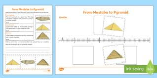 different types of egyptian pyramid activity sheet cfe social