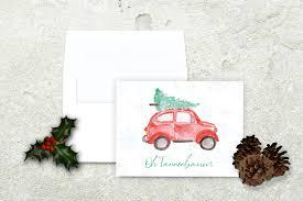 christmas tree on car christmas card oh tannenbaum oh christmas