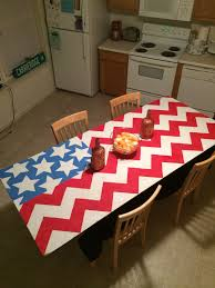 Dope American Flag I Painted This American Flag Chevron Beer Pong Table The Other