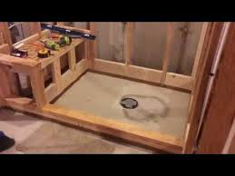 shower pan with bench youtube