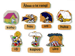 maori magnetic weather words and pictures