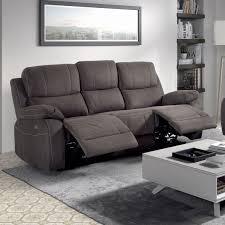canap electrique relax canapé 3 places relax electrique gris