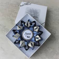 aunt to be pin new aunt gift baby shower corsage grandma to be