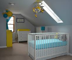 Yellow Gray And White Bedroom Ideas Baby Boy U0027s Yellow Grey And Teal Attic Nursery Project Nursery
