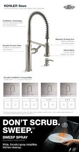 kohler kitchen faucet installation kohler sous pro style single handle pull sprayer kitchen