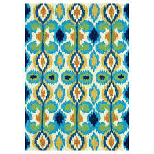 Loloi Outdoor Rugs Loloi Enzo Ikat Ez03 Indoor Outdoor Area Rug Ivory Blue