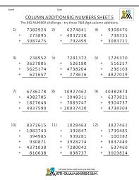Kumon Sample Worksheets Printable Addition Worksheets 5th Grade
