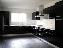cuisine moderne et noir cuisine equipee noir et blanc modern aatl newsindo co