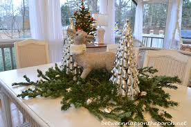 mercury glass tree decorations lights card