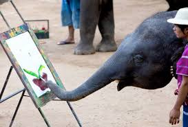 Blind Men And The Elephant Story For Children Can Jumbo Elephants Really Paint Intrigued By Stories Naturalist