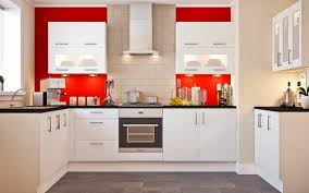Grey And Red Kitchen Designs - yellow wall paint white kitchen with grey countertops decor crave