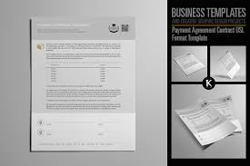 payment agreement contract usl templates creative market