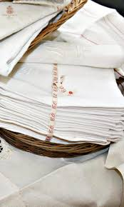 collecting antique linens with monograms