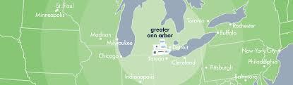 Ann Arbor Michigan Map by Greater Ann Arbor Region Economic Development Region