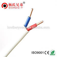 pvc flexible house wiring electrical cable twin and earth flat