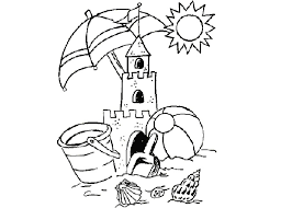 Http Www Cartoon Coloring Page Com Wp Content Uploads 2012 06 Sandcastle Coloring Page