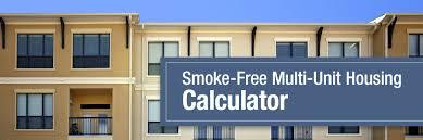 smoke free multi unit housing calculator tobacco education