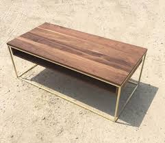 Cube Coffee Tables Plastolux Cube Coffee Table Brass And Walnut