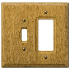 light switch covers 3 toggle 1 rocker carson light oak wood