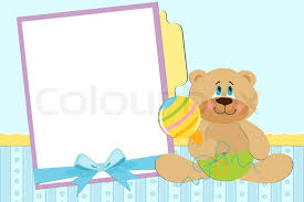 Baby Photo Album Template For Baby U0027s Postcard With Twins Stock Vector Colourbox