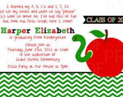 kindergarten graduation announcements cloveranddot com