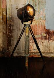 floor lamp from vintage theater light and tripod for the home