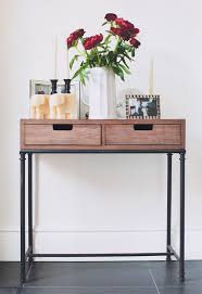 Entryway Tables And Consoles Mixed Material Console Table Threshold Entryway Tables