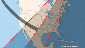 A Bite Of North America by Partial U2014 And Annular U2014 Eclipse Of The Sunto Sweep North America