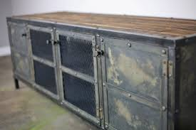 vintage industrial media console for the home pinterest