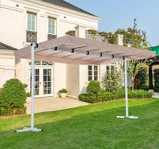 Free Standing Canopy Patio Outdoor Free Standing Awning Patio Canopy Gazebo Shelter Sun Shade