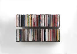 scaffale porta cd mensola porta cd set di 2 45 cm acciao