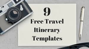 Free Travel Itinerary Template Excel Travel Itinerary Exle Family Travel Itinerary Template Trip