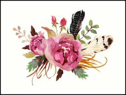 burgundy flowers burgundy watercolor flowers and feathers prints by