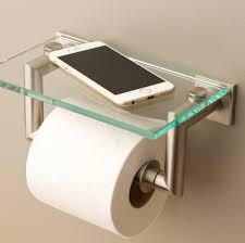 toilet paper shelf brushed nickel toilet paper holder ceramic u2014 cablecarchic interior