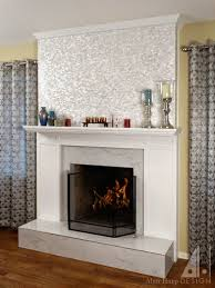 wood and marble fireplace mantel alanharpdesign
