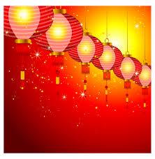 lanterns new year new year background design with lanterns free vector