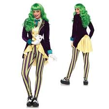 Womens Joker Halloween Costume Womens Wicked Trickster Halloween Costume U2013 Batman Womens Joker
