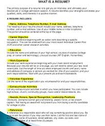 Objective On A Resume What Is A Resume What Is A Resume Objective Free Resume And Cover