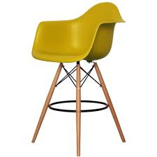 Bar Stool With Arms Buy This Mustard Plastic Bar Stool With Arms From Fusion Living Now