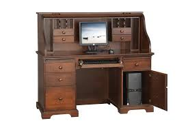 Small Roll Top Computer Desk Oak Roll Top Computer Desk In Stock Free Shipping Intended