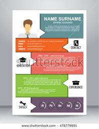 Resume Layout Template Job Resume Cv Layout Template A4 Stock Vector 450943441 Shutterstock