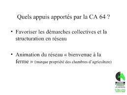 chambre d agriculture 64 ca 64 et lagritourisme