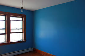 painting alligatoring paint and plaster walls blue walls