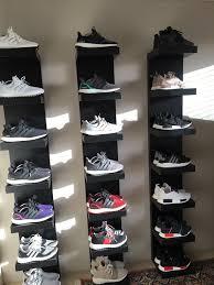 picturesque design ideas sneaker display shelves nice best 25 shoe