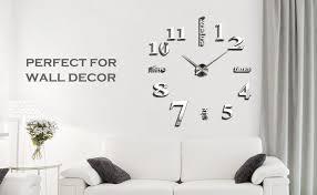 wall clock modern amazon com yesurprise 3d frameless large wall clock modern mute