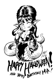 happy halloween clip art black and white happy halloween mia u0027s elivra cosplay by kaijusamurai on deviantart